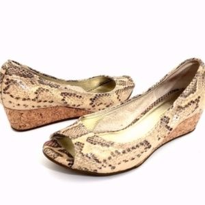 Cole Haan | Snake Skin Wedge Shoes